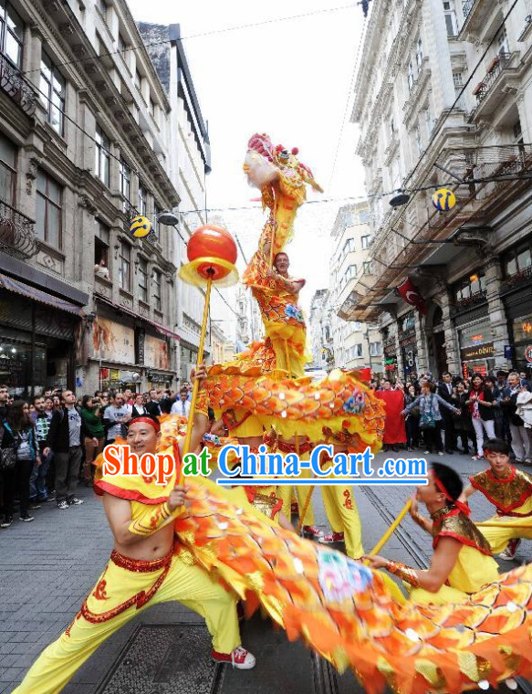 Chongqing National Dragon Dance Equipments Complete Set