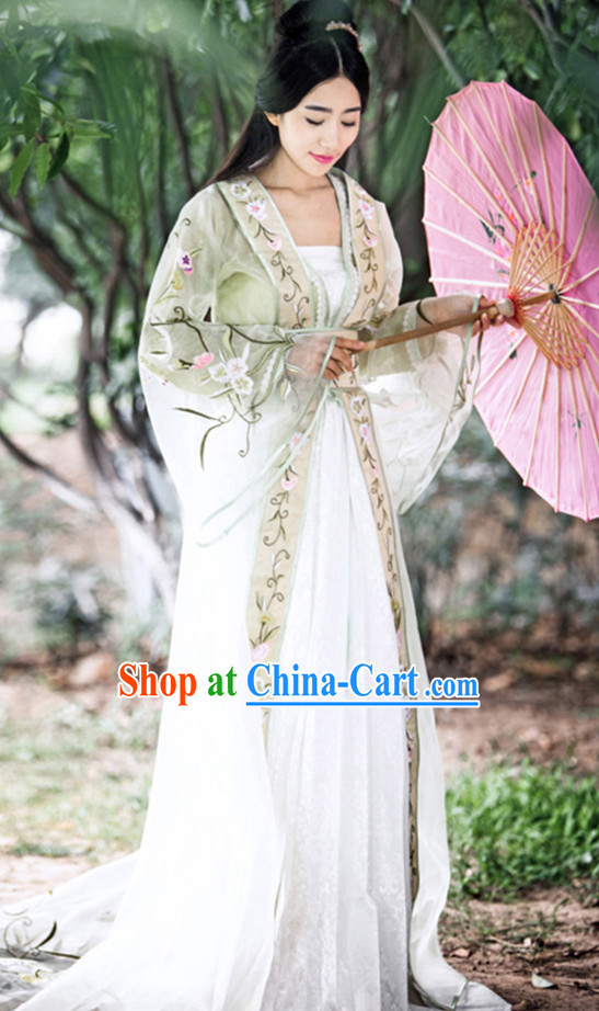 Chinese Princess Wide Sleeve Costumes Complete Set for Women