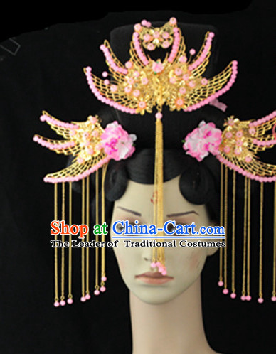 Ancient Chinese Lady Black Long Wigs and Hairpieces