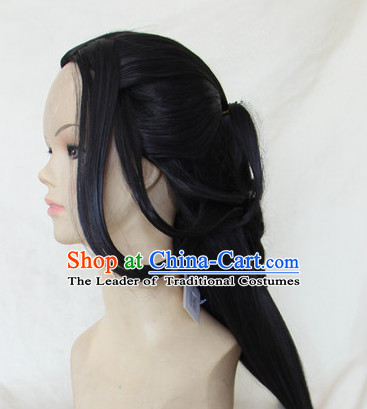 Ancient Chinese Superhero Halloween Black Wigs