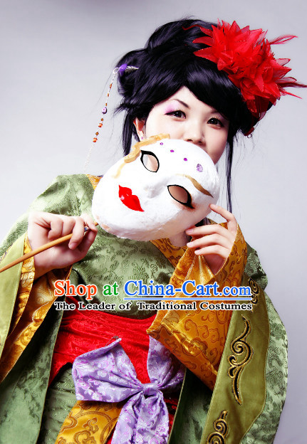 Ancient Chinese Japanese Geisha Halloween Costumes for Men