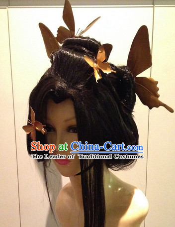 Japanese Halloween Costumes Butterfly Wigs and Hair Accessories