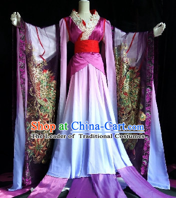 Asian Chinese Peacock Queen Costumes Complete Set