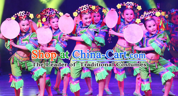 642118849710 Chinese Folk Dance Costumes for Kids