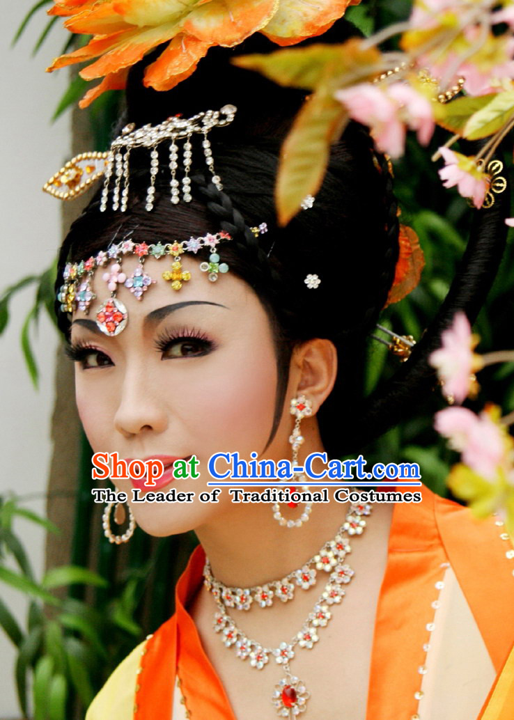 Ancient Chinese Empress Xi Shi Wigs and Hair Jewelry Set
