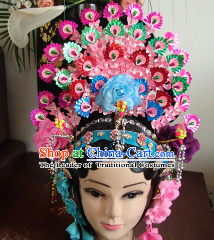 Handmade Ancient Chinese Hairstyles Opera Phoenix Crown Hat Feng Guan
