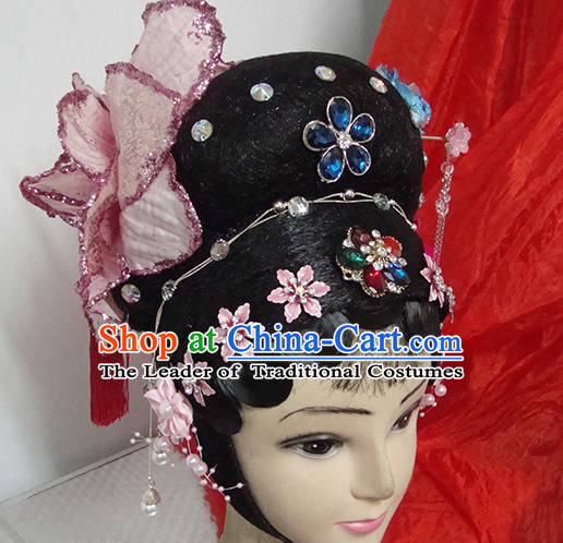 Chinese Opera Peking Opera Cantonese Opera Li Yugang Hairstyles Fascinators Fascinator Wholesale Jewelry Hair Pieces and Black Wigs