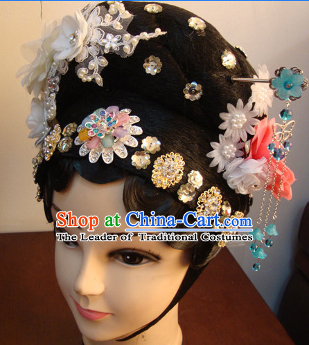 Chinese Opera Peking Opera Cantonese Opera Hairstyles Fascinators Fascinator Wholesale Jewelry Hair Pieces and Black Wigs