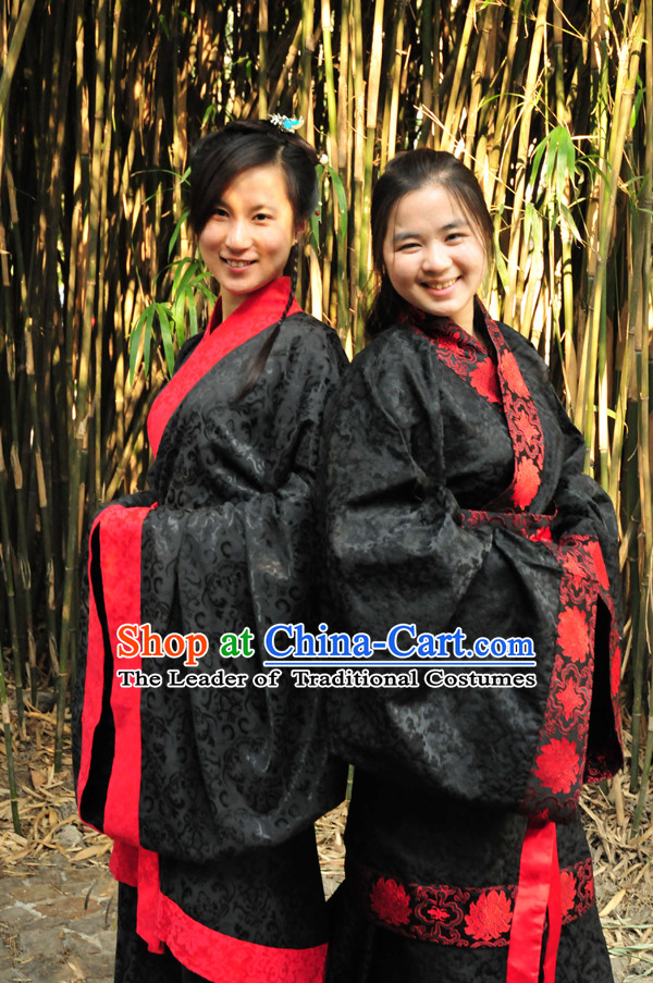 Chinese Black Han Fu Costumes Dresses online Designer Halloween Costume Wedding Gowns Dance Costumes Superhero Costumes Cosplay for Women