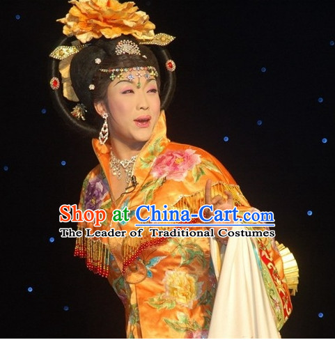Chinese Ancient Empress Black Wigs and Hair Accessories Set