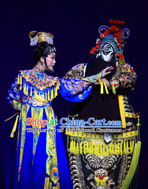 Ancient Chinese Palace Yu Ji and Emperor Opera Stage Queen Dance Costumes