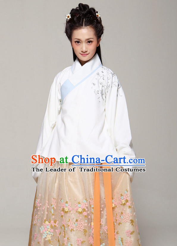 Chinese Traditional Hanfu Attire Complete Set for Women
