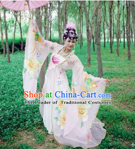 Asian Chinese Classic Dance Costumes and Hair Accessories Complete Set
