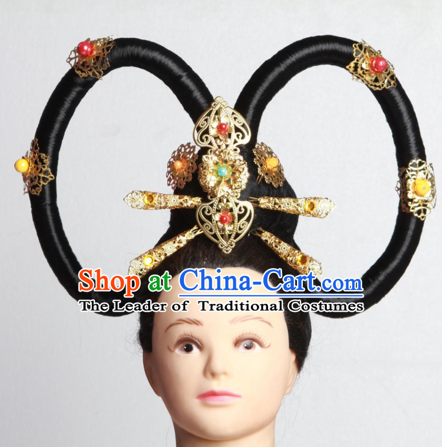 Chinese Ancient Fairy Wigs Hairpieces Hair Accessories Hair Pieces