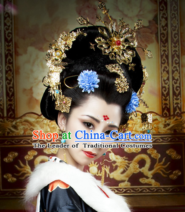 Chinese Ancient Queen Wigs Hairpieces Hair Accessories Hair Pieces