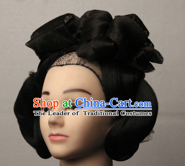 Chinese Ancient Imperial Empress Black Wigs Hairstyles