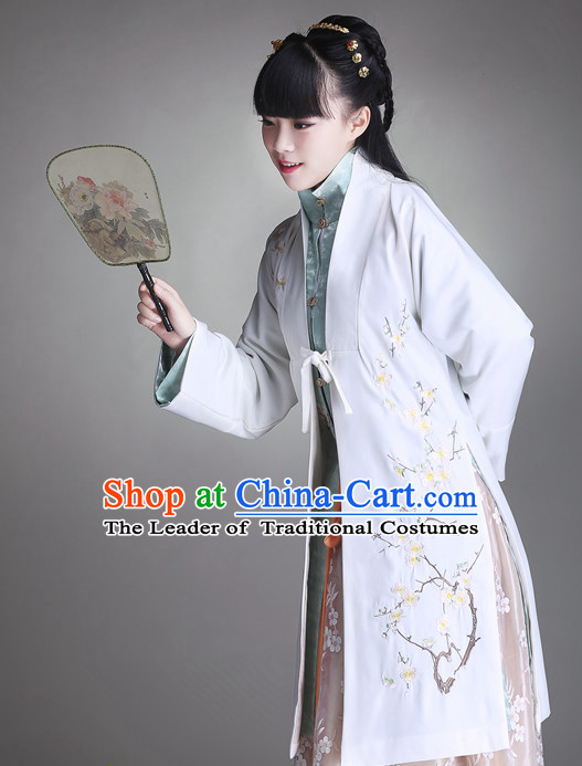 Ancient Chinese Female Hanfu Clothing and Hair Jewelry Complete Set for Women