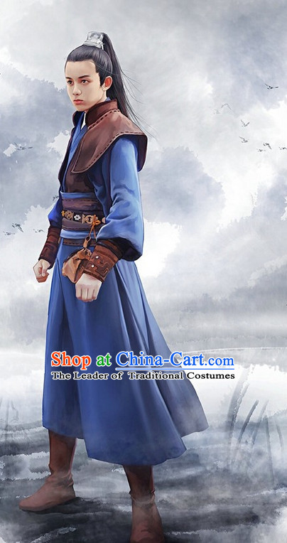 Ancient Chinese Swordsman Halloween Costumes Complete Set