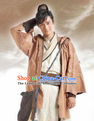 Chinese Ancient Knight Costume Halloween Costumes Complete Set for Men