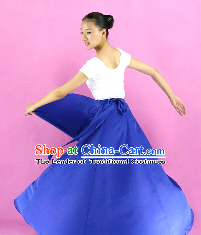 Chinese Folk Practice Dance Costumes for Girls