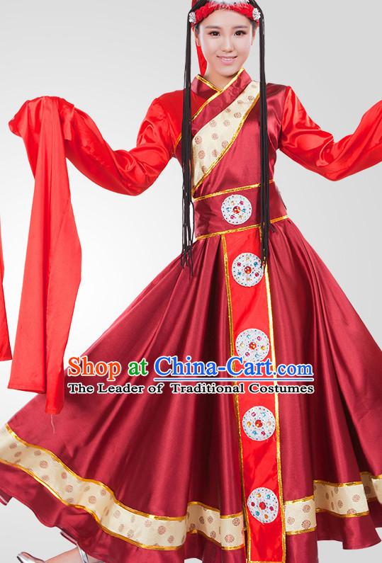 Chinese Tibetan Folk Dance Costume Wholesale Clothing