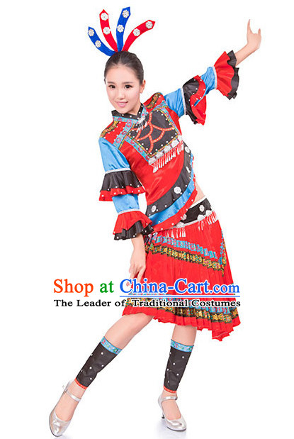 Chinese Folk Dancing Clothes Costume Wholesale Clothing Group Dance Costumes Dancewear Supply for Men