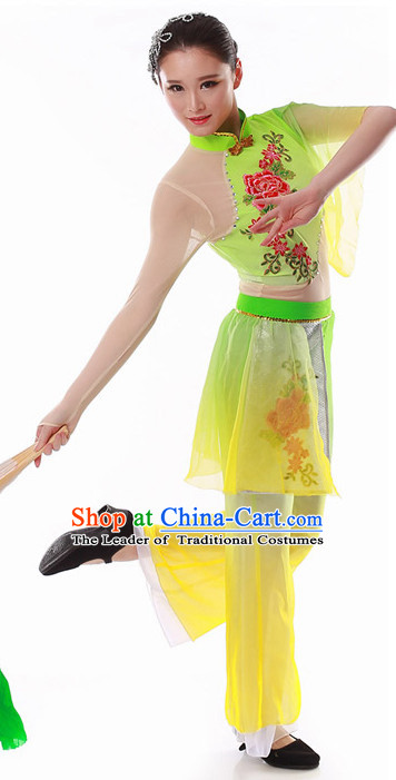 Chinese Han Dancing Clothes Costume Wholesale Clothing Group Dance Costumes Dancewear Supply for Girls