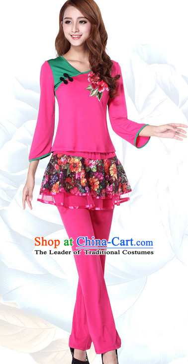 Chinese Festival Parade and Stage Dance Costume Wholesale Clothing Group Dance Costumes Dancewear Supply for Women