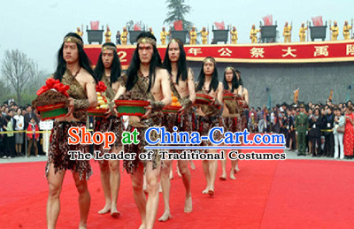 New Stone Age Costume Ancient Xia Dynasty Costumes for Men
