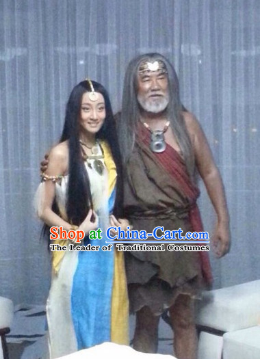 Xia Dynasty New Stone Age People Clothing for Men