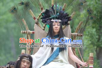 New Stone Age Xia Dynasty Women Leader Costume and Headwear