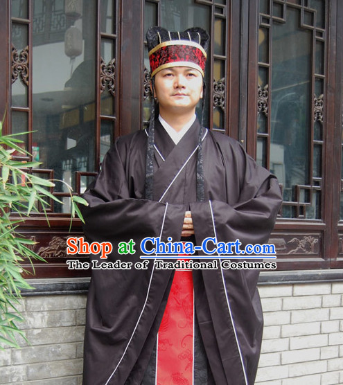 Western Zhou Dynasty Ceremonial Clothing Clothes Garment Complete Set for Men