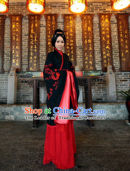 Western Zhou Dynasty Wedding Dress Clothing Clothes Garment and Hair Pin for Women