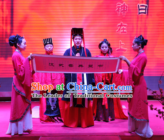 Western Zhou Dynasty Wedding Host Costume for Men