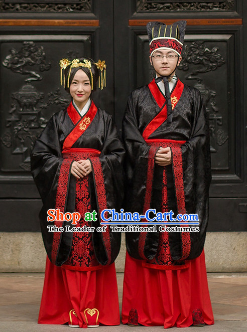 Western Zhou Dynasty Official Clothing Costume and Hat for Men and Women