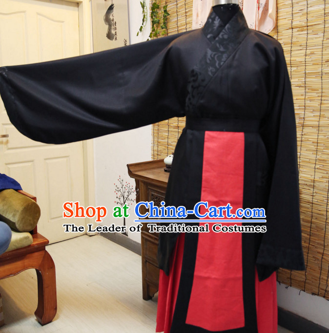Western Zhou Dynasty Ceremonial Dress Wear for Men