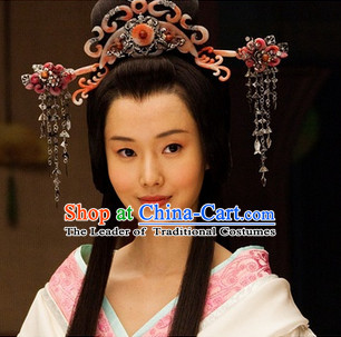 Eastern Zhou Dynasty Spring and Autumn Princess Clothing and Hair Accessories Complete Set for Women