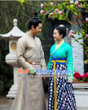 Period of the Northern and Southern Dynasties Chinese Costume Chinese Classic Costumes National Garment Outfit Clothing Clothes for Men and Women