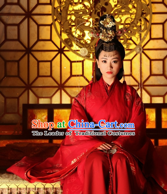Period of the Northern and Southern Dynasties Chinese Costume Chinese Classic Costumes National Garment Outfit Clothing Clothes Wedding Dress for Women