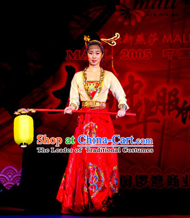 Period of the Northern and Southern Dynasties Chinese Costume Chinese Classic Palace Costumes National Garment Outfit Clothing Clothes for Women
