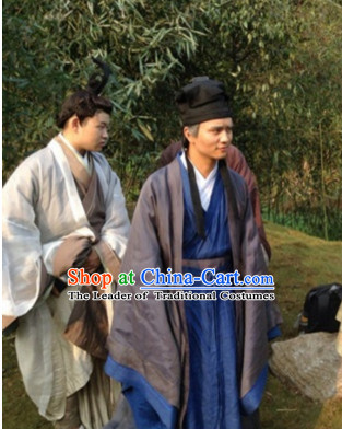 Chinese Costume Chinese Costumes National Garment Outfit Clothing Clothes Ancient Jin Dynasty Men Suits