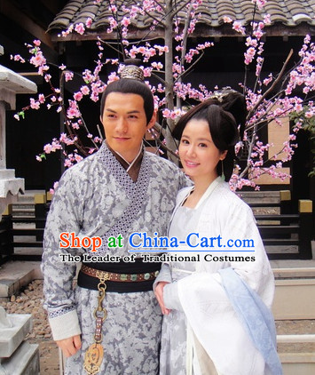 Chinese Costume Five Dynasties Chinese Classic Princess and Husband Costumes National Garment Outfit Clothing Clothes for Men and Women