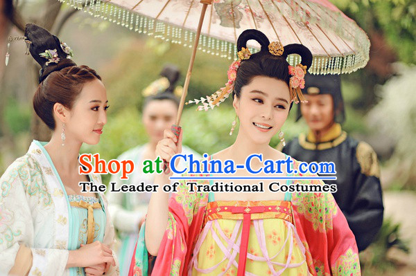 Chinese Tang Dynasty Emperor's Consort Hair Accessories Fascinator Headpieces Hair Sticks Hairpins Hair Clips Hair Ornaments for Women