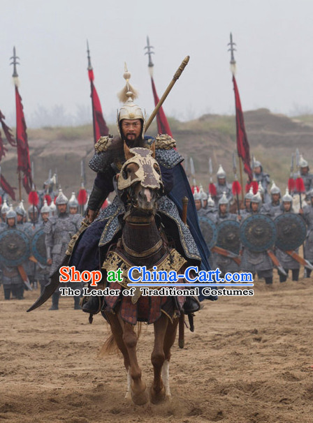 Ancient Chinese Tang Dynasty General Knight Superhero Guo Ziyi Costume Complete Set for Men