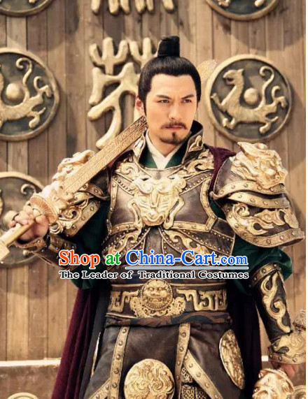 Chinese Tang Dynasty Costumes Most Famous General Xue Rengui Armor Body Costume Complete Set for Men