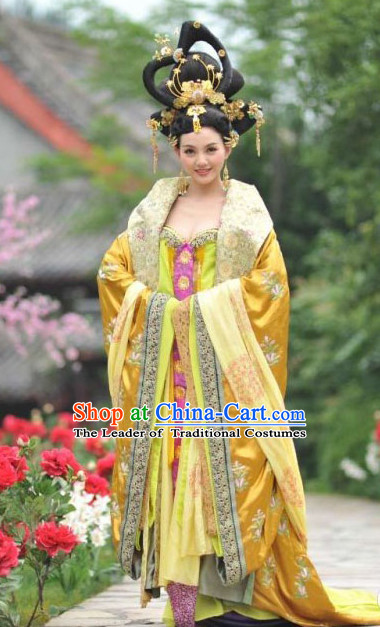 Chinese Tang Dynasty Princess Pingyang Costumes Costume Complete Set for Women
