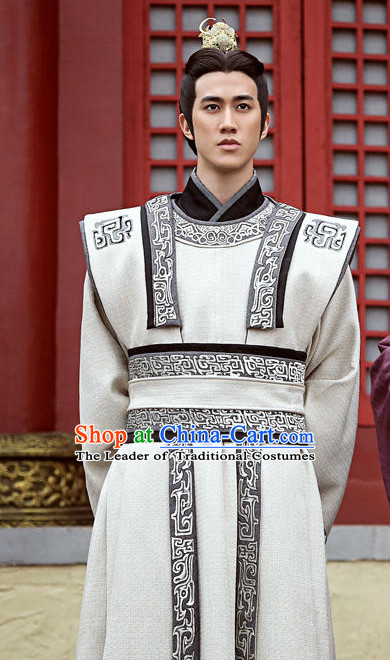 Tang Dynasty Emperor Gaozong of Tang Costumes Suit Garment Outfits Clothing Costumes Costume Complete Set for Men