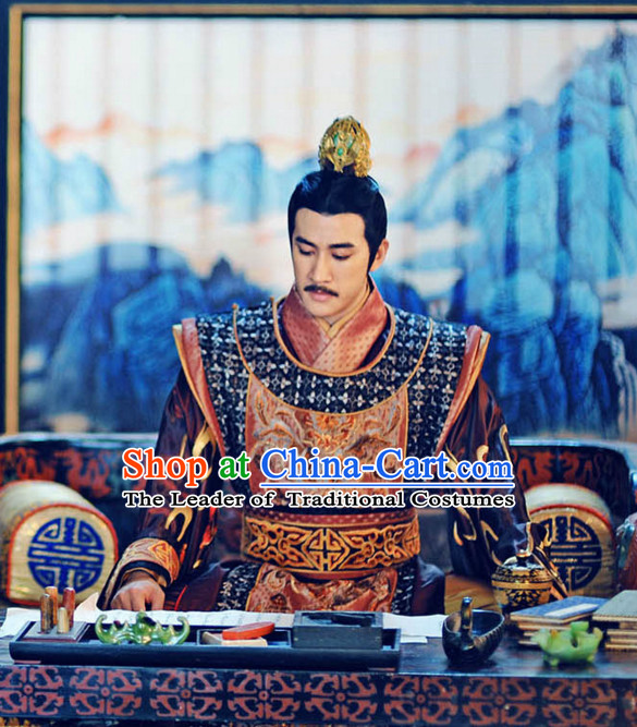 Tang Dynasty Emperor Gaozong of Tang Costumes Prince Suit Garment Outfits Clothing Costumes Costume Complete Set for Men