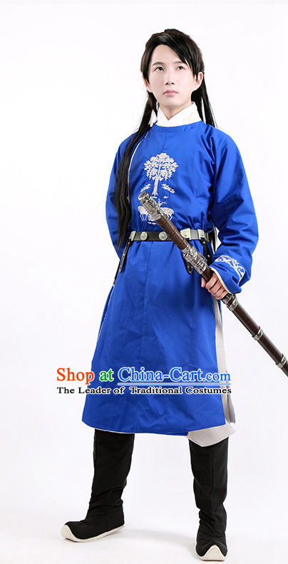 Tang Dynasty Chinese General Swordsman Knight Costume Complete Set for Men