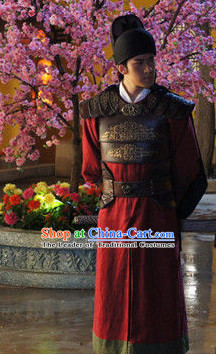 Tang Dynasty Chinese General Body Armor Costume Complete Set for Men
